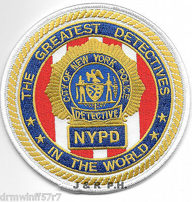 "Greatest Detectives In the World (4"" round) shoulder police patch (fire)"
