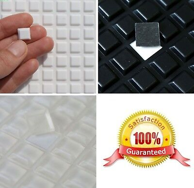 Square 3M RUBBER FEET Bumpons Stoppers ~ 10 x 10 x 2mm High ~ White Clear Black