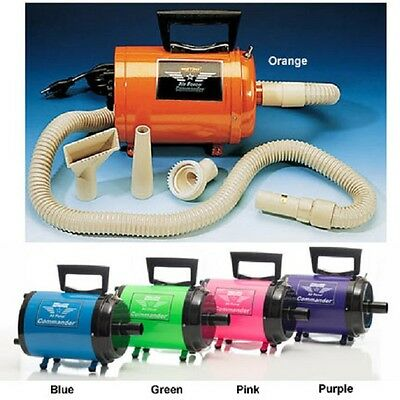 Metro Commander AFTD-3 220 Volt Two Speed Pet Dog Hair Dryer Now in Five Colors