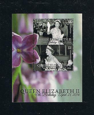 Niuafo'ou - 2016 90th Birthday of Queen Elizabeth Postage Souvenir Sheet