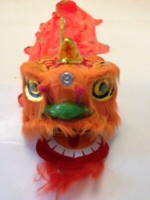 "13"" Chinese New Year Lion Dragon Head Dance Performance Usa Seller"