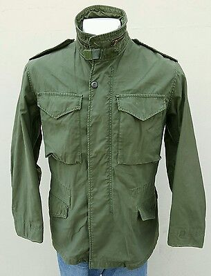 1970s AUTHENTIC US MILITARY ISSUE M-65 FIELD JACKET SIZE SR