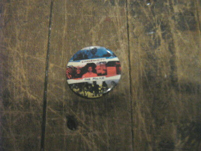 """The Police RARE Orig Vintage 1983 Synchronicity 1.5"""" Button Badge Pin Pinback"""