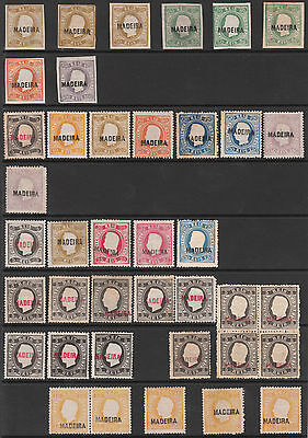 PORTUGAL MADEIRA 1868 IMPERF 1871 1879 1880 MINT STAMP COLLECTION Cv £8500++