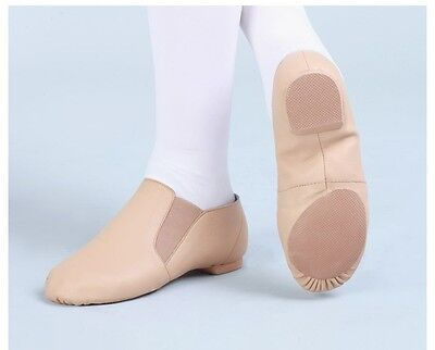 Jazz Shoes Tan Leather Split Sole - Average to Wide fitting Size AU 9