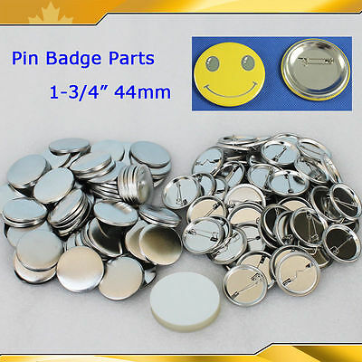 "1-3/4"" 44mm 100sets Pin Badge Button Parts Supplies for Maker Machine HOT SALE"