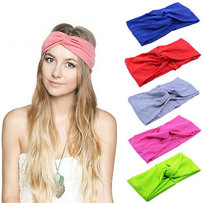Women Girl Turban Twist Knot Head Wrap Headband Twisted Knotted Hair Band LC