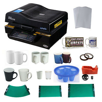 3D Sublimation Machine Rubber Clamps 11oz/15oz Mugs 12oz Latte Cup Tape Paper