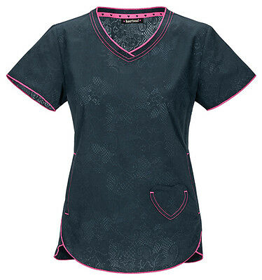 Scrubs Heartsoul Print Top Lovely In Lace 20975 LOVY   FREE SHIPPING