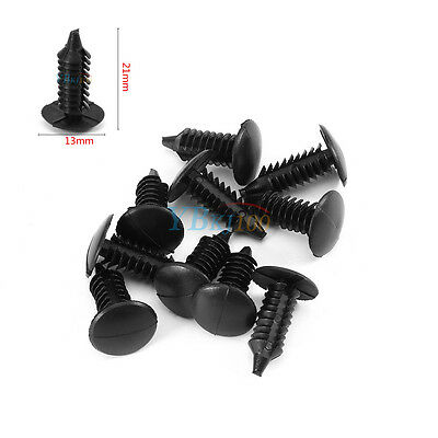 Universal 100x Black Nylon Rivet Fastener Bumper Retainer Plastic Clips for car