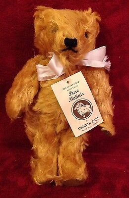 "11"" Mohair Merrythought Artist Bear - England SIGNED Golden Honey"