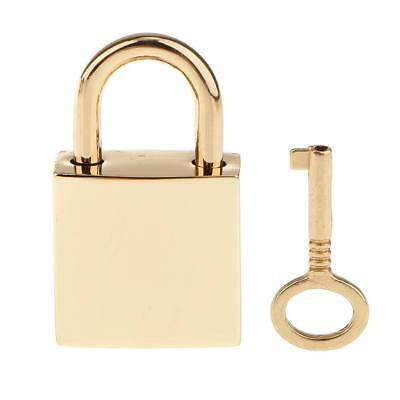 1 X Mini Metal Tiny Luggage/Suitcase Craft Box Locks Padlock /w Keys Golden