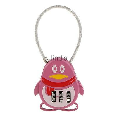 3 Digit Resettable Combination Lock Coded Lock Password Plus Padlock Pink