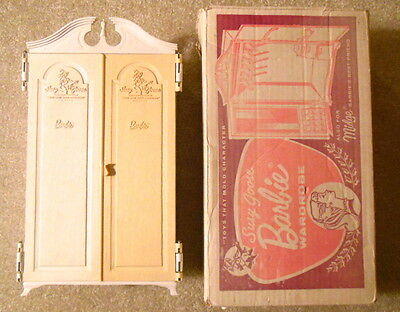 Vintage 1960s Suzy Goose BARBIE WARDROBE Armoire Closet - With Original Box