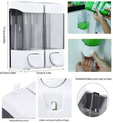 Soap Dispenser Liquid Hand Wash Toilet Loo Bathroom Shower Gel Pump Wall Mounted