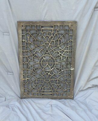 "Antique Decorative Cast Iron Cold Air Return Vent Vintage ""S"" Hardware 931-16"