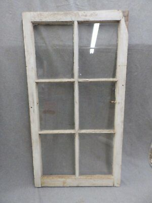 Vintage 6 Lite Casement Barn Porch Window Sash Shabby Cottage Chic Vtg 938-16
