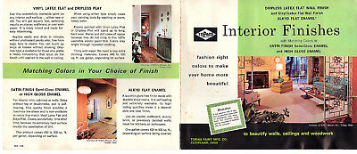 ToPaco Paint Interior Gloss Enamel Finish Vintage 1968 Brochure & Color Chart