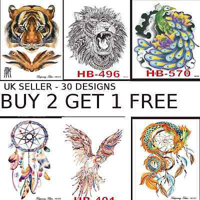 Tattoo Stickers Waterproof Temporary Tattoos Arm Back Body Art Retro Tribal Fake