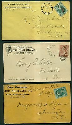 1860's - 1917 Fire Insurance Co. Advertising Covers Collection