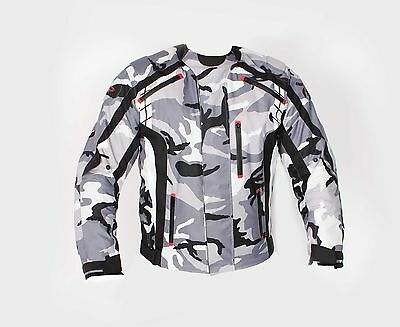 Camo Army Cordura Waterproof Motorcycle Motorbike Textile Racing Touring Jacket