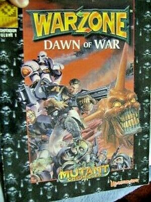 Warzone Dawn of War Paperback Book (1996) Mutant Chronicles