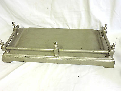 Antique Large Painted Cast Iron Fireplace Log Insert Floor Base Fender