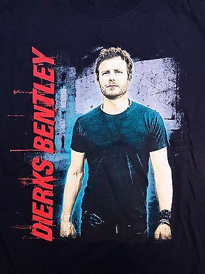 Dierks Bentley New Black Tshirt Tour Merch Photo Large Country Music