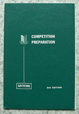 TRIUMPH SPITFIRE COMPETITION Preparation Manual USA 1967 2nd Edition