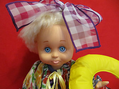 "1990 13"" Galoob Baby Face Doll ""So Sorry Sarah"" #6 in series"