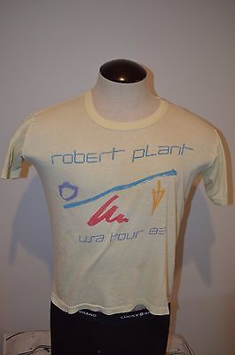 Vintage Robert Plant Usa Tour 1983 Jersey T Shirt Large Runs Very Small