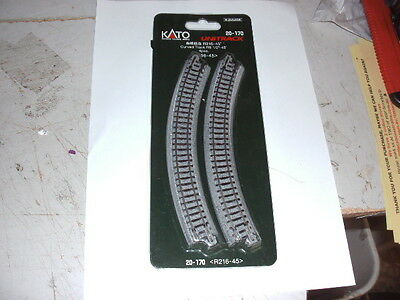 Kato N Scale  4X  20-170 Curved Track