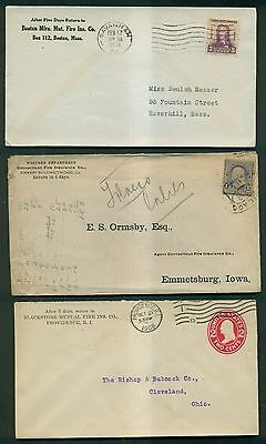 1896-1954 Fire Insurance Co. & Related Advertising Covers Group