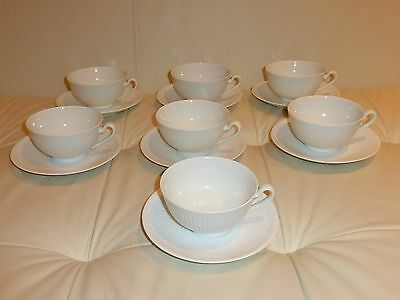 7 Royal Copenhagen Georgiana Cups And Saucers