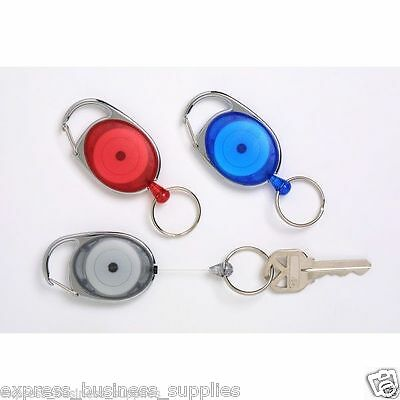 Rexel Retractable Snap Lock Key Holder Charcoal - AA9806011