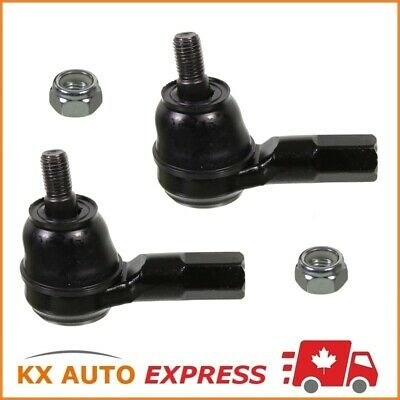 2 Front Left & Right Outer Tie Rod End For Honda Civic 2001 2002 2003 2004 2005