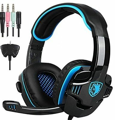 Sades 5in1 HiFi Stereo Headband Notebook PC Gaming Headset w/Mic for PS4 Xbox360