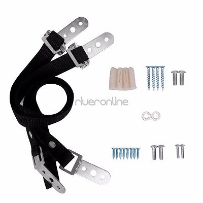 Anti-tip TV Furniture Safety Wall Straps Anchor Heavy Duty Nylon Metal Mounting