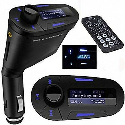 MP3 Player Wireless FM Transmitter Modulator Car Kit & USB SD MMC LCD Remote