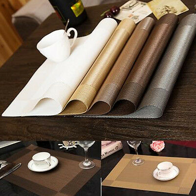 PVC Coasters Kitchen Mat Dining Table Place Mats Placemats Pad Effect Modern