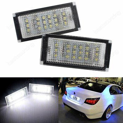 LED License Number Plate Light Lamp Bulb BMW 3 Series E46 2003-06 Canbus White