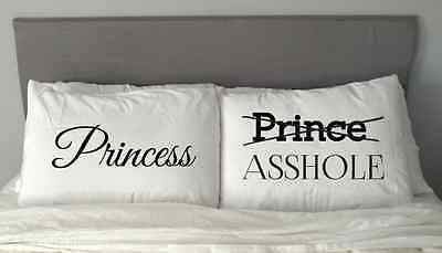 NEW PRINCESS PRINCE Asshole Pillow Case Valentine's Day Gift Anniversary m3