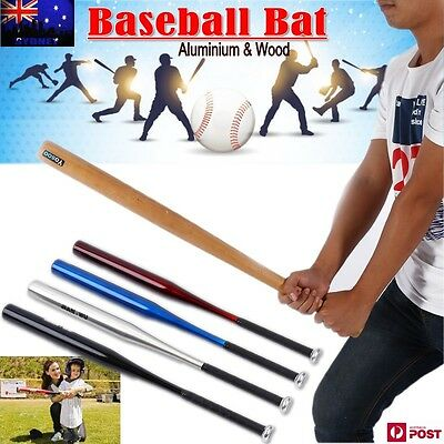 "25""/32"" Wood & 30""/32""/34""Aluminium Baseball Bat Racket Softball Outdoor Sports"
