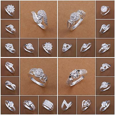 Special Offer Jewellery Solid 925Sterling Silver Jewelry Fashion Rings Xmas Gift