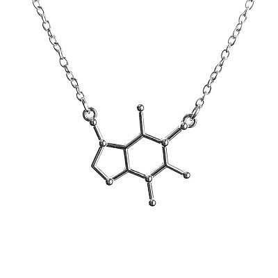Caffeine Molecule Chemistry Science Pendant Necklace with 17inch Fine Chain