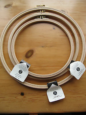 Anchor Deluxe Wooden Embroidery Hoop Choice of size 8 10 12 inch sewing ring