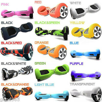 "Silicone Rubber Protective Skin Case Cover For 6.5"" 2 Wheels Hoverboard Scooter"