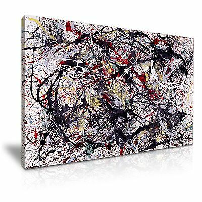 No. 34 Jackson Pollock Modern Abstract Art Stretched Canvas Wall Deco