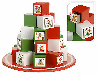 Lovely Large Wooden Advent Calendar Wood Christmas Gift Boxes Advent Calendar