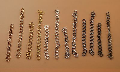 """2"""" Curb Extension Chain Tail Extender Curved Adjustable Necklace Bracelet Making"""